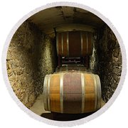 The Biltmore Estate Wine Barrels Round Beach Towel