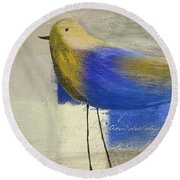 The Bird - J100124164-c21 Round Beach Towel