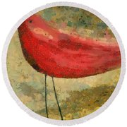 The Bird - K03b Round Beach Towel by Variance Collections