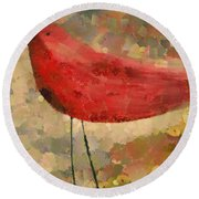 The Bird - K04d Round Beach Towel