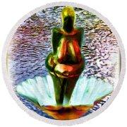 Round Beach Towel featuring the digital art The Birth Of Vestonice Venus by Daniel Janda