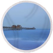 The Blue Hour Round Beach Towel by Kim Hojnacki