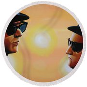 The Blues Brothers Round Beach Towel by Paul Meijering