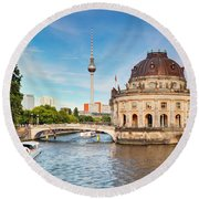 The Bode Museum Berlin Germany Round Beach Towel