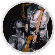 Bruce And Clarence Round Beach Towel