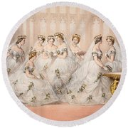 The Bridesmaids, 10th March, 1863 - Marriage Of Edward Vii And Alexandra Of Denmark Round Beach Towel