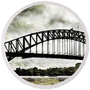 The Bridge Spattled Round Beach Towel