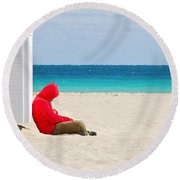 The Bright Side Round Beach Towel
