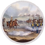 The British Royal Horse Artillery - Round Beach Towel