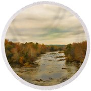 The Broad River Round Beach Towel
