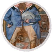 The Brothers Cheeryble, Illustration For Sketches From Dickens Compiled By B.w. Matz, 1924 Colour Round Beach Towel