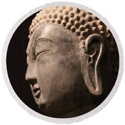 Round Beach Towel featuring the photograph The Buddha 2 by Lynn Sprowl