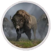 The Buffalo Vanguard Round Beach Towel