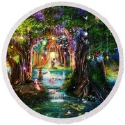 The Butterfly Ball Round Beach Towel