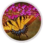 The Butterfly Effect Round Beach Towel by Elizabeth Winter