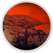 The Cabot Trail Round Beach Towel by Jason Lees