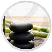 The Cairn And The Bamboo Round Beach Towel