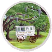 The Candy Cart Round Beach Towel