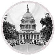 The Capitol Building Round Beach Towel