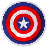 The Captain's Shield Round Beach Towel