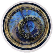 The Carousel Of Time Round Beach Towel