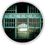 The Casino Round Beach Towel by Colleen Kammerer