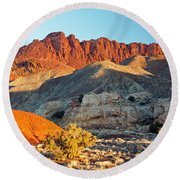The Castle Capitol Reef National Park Round Beach Towel