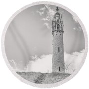 The Castle Tower Round Beach Towel