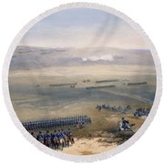 The Cavalry Affair Of The Heights Round Beach Towel