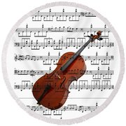 The Cello Round Beach Towel