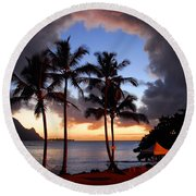 The Center Of The Storm Round Beach Towel by Lynn Bauer