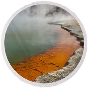 The Champagne Pool At Wai O Tapu Round Beach Towel
