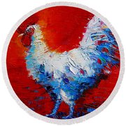 The Chicken Of Bresse Round Beach Towel by Mona Edulesco