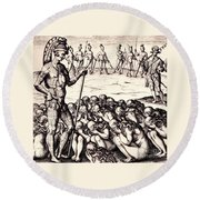 The Chieffe Applyed To By Women Round Beach Towel