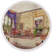 The Chinese Drawing Room, Middleton Round Beach Towel