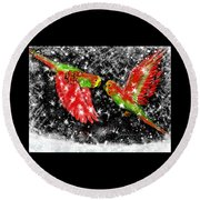 The Christmas Keets Round Beach Towel