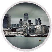 The City Of London Round Beach Towel