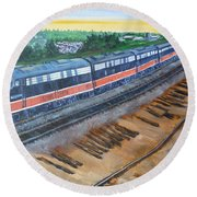 The City Of New Orleans Round Beach Towel by Bryan Bustard