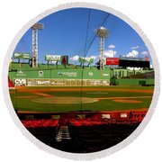 The Classic  Fenway Park Round Beach Towel by Iconic Images Art Gallery David Pucciarelli