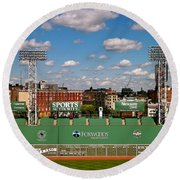 The Classic II Fenway Park Collection  Round Beach Towel by Iconic Images Art Gallery David Pucciarelli
