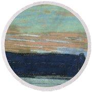 The Cliff At Etretat, C.1885 Pastel Round Beach Towel