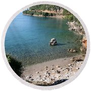Round Beach Towel featuring the photograph The Coast To Oren  by Tracey Harrington-Simpson