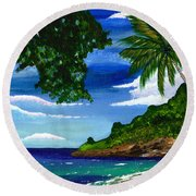 The Coconut Tree Round Beach Towel
