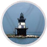 The Coffee Pot Lighthouse Round Beach Towel