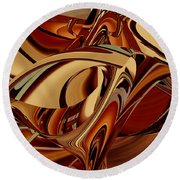 The Color Of Brown Round Beach Towel by rd Erickson