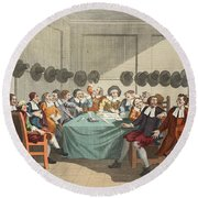 The Committee, From Hudibras By Samuel Round Beach Towel