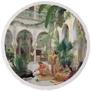 The Court Of The Harem Round Beach Towel