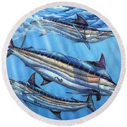 The Courtship Round Beach Towel
