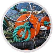 Crab Ring Round Beach Towel