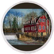 The Cranford Mill Round Beach Towel